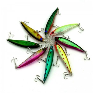 Simulation minnow type fishing lures